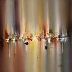 Harbourside I by Philip Gray -  sized 24x24 inches. Available from Whitewall Galleries
